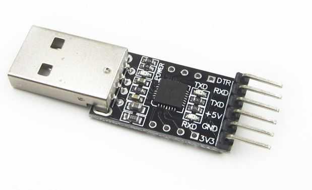 Подключение адаптера USB 2.0 to TTL UART Module CP2102 к Pi