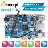 Orange pi 3 2GB LPDDR3(shared with GPU)+8GB EMMC Flash