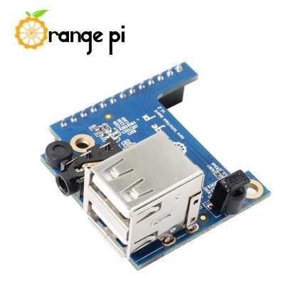 Плата расширения Orange Pi Zero - 2 USB+A/V выход+IR+MIC
